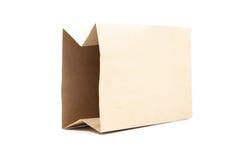 используемая бумага мешка коричневая сделанная Стоковое Изображение RF