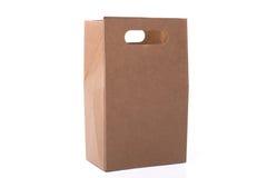используемая бумага мешка коричневая сделанная Стоковые Изображения RF