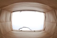 используемая бумага мешка коричневая сделанная Стоковая Фотография RF