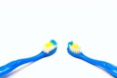 Используемая зубная щетка новая и Стоковые Изображения
