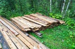 Используемая куча древесины огня Стоковые Изображения RF