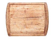 Используемая доска grunge деревянная прерывая изолированная на белой предпосылке Стоковое Изображение RF
