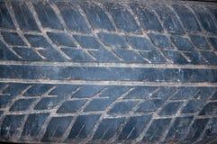 Используемая пыль белизны текстуры автошины Стоковые Фотографии RF