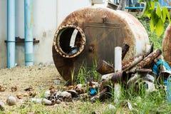 Используемая цистерна с водой Стоковые Изображения RF