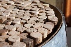 Используемое вино corks собрание Стоковые Фотографии RF