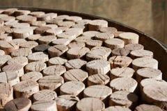Используемое вино corks собрание Стоковые Изображения RF