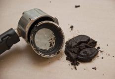 Используемые земли кофе Стоковое фото RF
