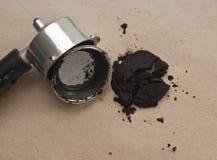 Используемые земли кофе Стоковые Фотографии RF