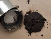 Используемые земли кофе Стоковые Изображения RF