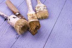 Используемые paintbrushes Стоковые Изображения