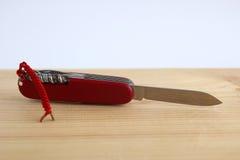 Используемый карманный нож Стоковая Фотография