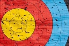 Используемый конец цели archery вверх Стоковые Изображения RF