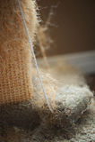 Используемый кот царапая столб Стоковое Фото
