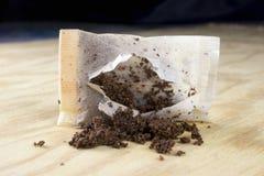 используемый чай мешка стоковые фото