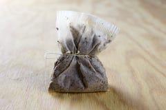 используемый чай мешка стоковое изображение rf