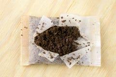используемый чай мешка стоковое изображение