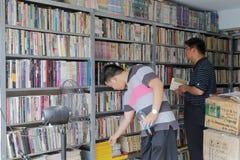 Используемый bookstore книг Стоковая Фотография