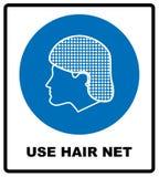 Используйте знак сети волос также вектор иллюстрации притяжки corel Стоковое фото RF
