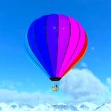 Использующий горячий воздух воздушный шар Стоковое Изображение RF