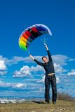 Используя энергию ветра Стоковые Фото