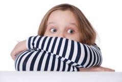 испуганная девушка Стоковое Фото