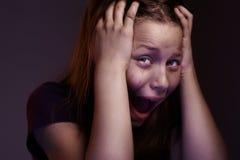Испуганная предназначенная для подростков девушка Стоковые Фотографии RF