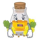Испуганное масло мустарда в оболочке в коробке талисмана иллюстрация штока