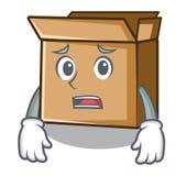 Испуганный картон изолированный с в талисманом иллюстрация штока