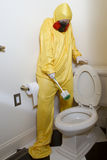 Испуганный туалета циновки Haz Стоковое Изображение