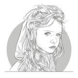 испуганным детеныши девушки стороны удивленные портретом Стоковое Изображение