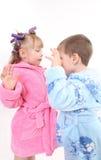 испуг детей Стоковое Изображение RF