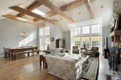испускает лучи комната семьи потолка Стоковая Фотография RF