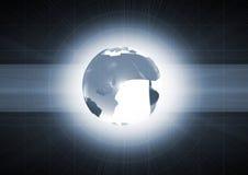 испуская лучи свет земли внутренний Стоковые Изображения RF