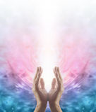 Испуская лучи энергия Reiki заживление Стоковое Изображение