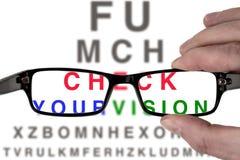 Испытайте ваше зрение стоковые изображения rf