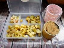 Испытайте образец замаринованного куска манго Стоковые Фотографии RF