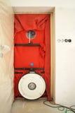 Испытание двери воздуходувки стоковые фотографии rf