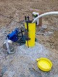 испытание гидрологии borehole стоковые фотографии rf
