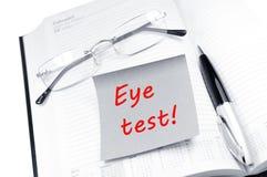 испытание глаза Стоковое фото RF