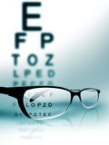 испытание глаза Стоковые Фотографии RF