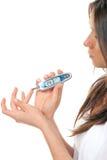 испытание глюкозы мочеизнурения крови ровное измеряя Стоковое Изображение RF