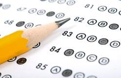 испытание листа счета ответов Стоковая Фотография RF