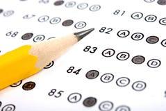 испытание листа счета ответов Стоковые Изображения RF
