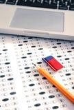 испытание листа счета ответов Стоковое фото RF