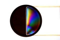 Испытание поляризации с фильтром Стоковая Фотография