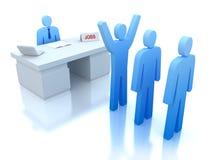 испытание работы работодателей работников центра иллюстрация вектора