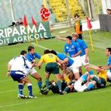 испытание рэгби спички Австралии Италии против Стоковое Изображение RF