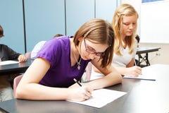 Испытание средней школы академичное Стоковая Фотография RF