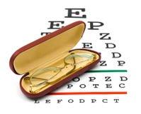 испытание стекел зрения диаграммы Стоковая Фотография