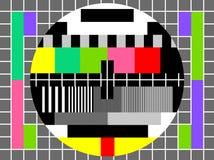 испытание телевидения экрана цвета иллюстрация штока